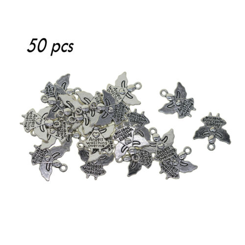 Tiebtan Silver angels watching over me  letter inspiration DIY charms pandants