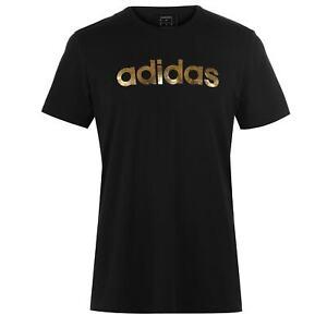 Mens-adidas-Linear-Foil-T-Shirt-Crew-Neck-Short-Sleeve-New