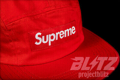 SUPREME WASHED CHINO TWILL CAMP CAP FLORAL SS18 2018 RED BOX LOGO HAT