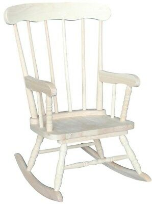 Awe Inspiring Rocking Kids Chair Classic Style Unfinished Wood With Microfiber Upholstery 727506712229 Ebay Creativecarmelina Interior Chair Design Creativecarmelinacom