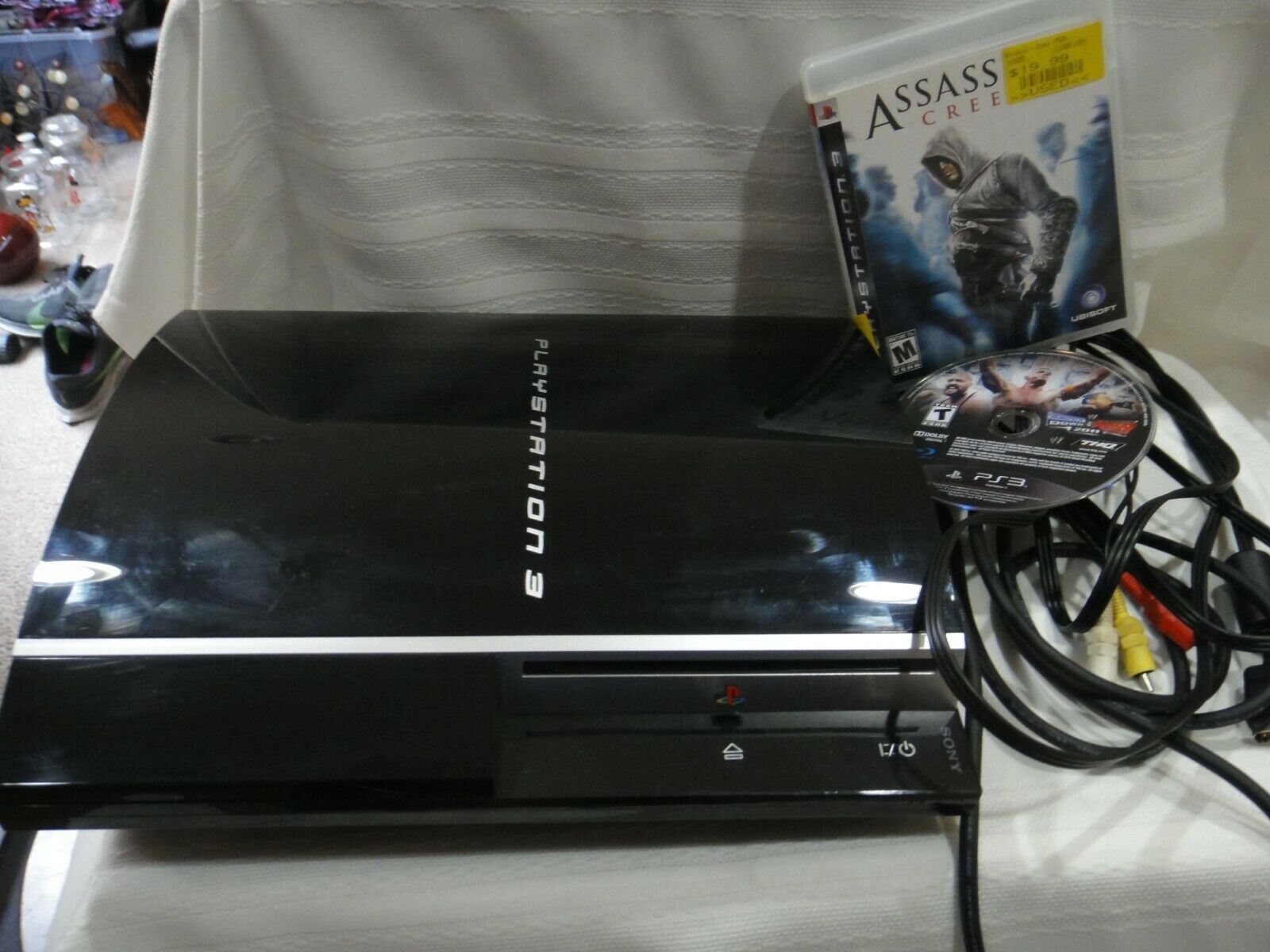 Sony Playstation PS3 FAT 80GB Console Bundle Games TESTED. (no controller)