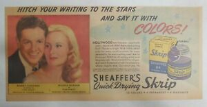 Sheaffer's Skrip Ink Ad: Robert Cummings Movie from 1946 Size: 7.5 x 15 inches