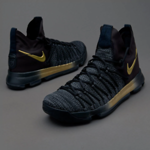 6cb7a7b9e9d12 Nike Zoom KD 9 IX Elite Black Gold Flip the Switch Size 10.5. 878637 ...