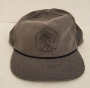 7163606b RIP CURL MEN'S BASEBALL HAT CAP PALM TREE SCREEN PRINT GREY SNAP ...