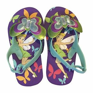 b79629142 Image is loading Disney-Tinkerbell-Tinker-Bell-Flip-Flops-Sandals-Girls-