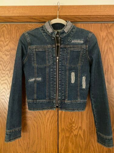 Younique embellished denim jean jacket Size small