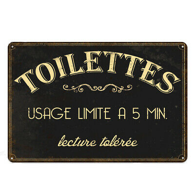 "Bathroom Rules Funny Tin Sign 8/""x12/"" Wall Plaque Metal Decor Restroom Toilets"