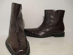 774eda63de2 Details about Giorgio Brutini Mens Canto 20020 Hornback Croco Print Dress  Boot Brown Size 11 M