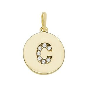 9ct Yellow Gold Round Initial Pendant