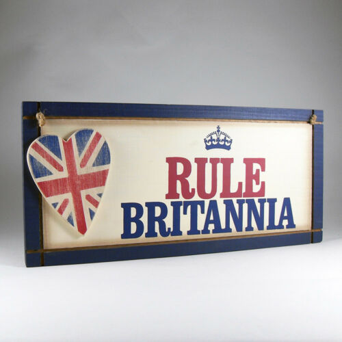Wooden Britain Home Hanging Plaque Brexit Boris Johnson Rule Britannia