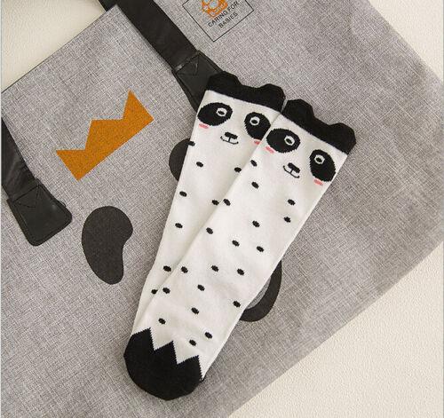 Lovely Children Kids Girls Cartoon Soft Cotton Socks Knee High Hosiery 20 Styles