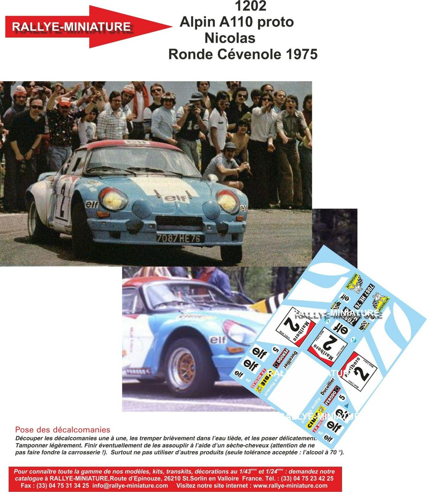 Aufkleber 12 1   12 Aufkleber ref 1202 alpine a110 nicolas rund cevennen 1975 rallye renault 39784f