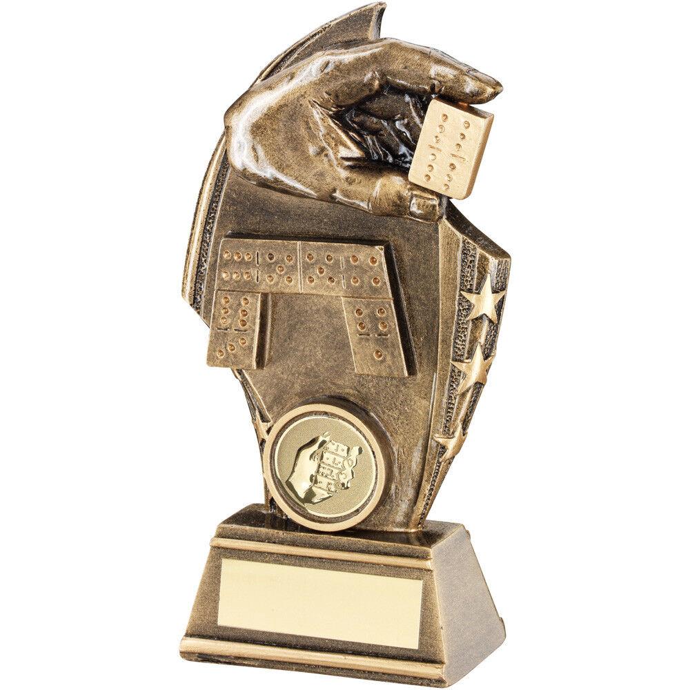 Dominó FRAGMENTO Trofeo MANO SOPORTE DOMINO PREMIO PREMIO PREMIO - Grabado Gratis 3 Tamaños 8c3acf