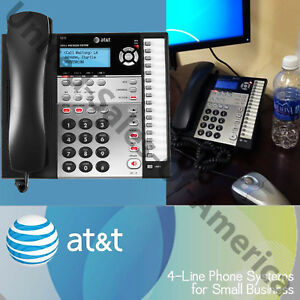 Details about Caller ID Corded Phone Speakerphone System 4 Lines Business  Desk AT&T Expandable