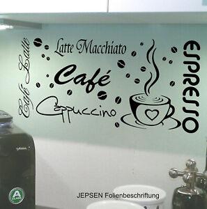 27-teiliges-Cafe-WANDTATTOO-Set-M7-60-Kueche-Espresso-Tasse-Cappuccino-Bohnen