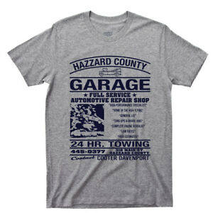 Dukes Of Hazzard County Garage Tee Shirt Bo Luke Daisy Duke TV Show DVD Blu Ray