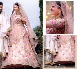 9c2dc2927e7b45 Image is loading Anushka-Sharma-Bollywood-Replica-Lehenga-Choli-Bridal -Designer-
