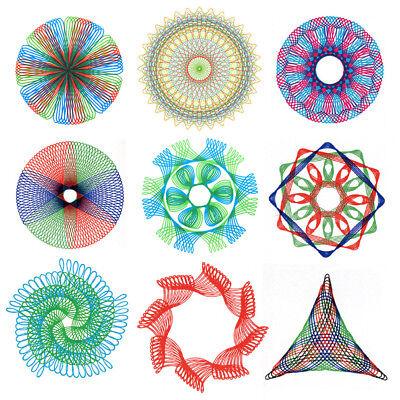 SPIROGRAPH ART PATTERNS DESIGNS CARD MAKING CHILDRENS ART PLASTIC NEW