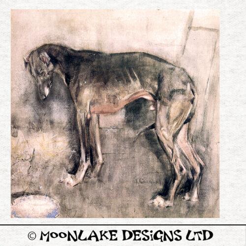 vagues Vintage ArtTissu Coussin Ameublement Craft Quilting Panel Greyhound