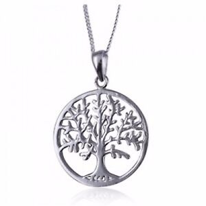 [Sponsored]Solid 925 Sterling Silver Tree of Life Pendant & Chain ExBklaw02