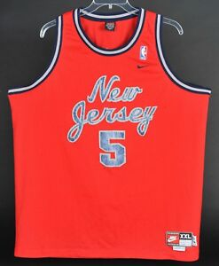8820d7eb423 Nike Vintage New Jersey Nets Jason Kidd #5 NBA Basketball Jersey ...