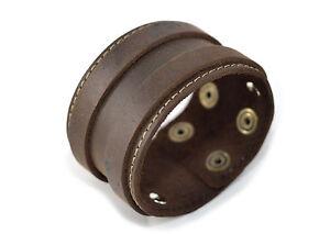 Bracciale in VERA PELLE Cuoio Unisex leather bracelet idea regalo MADE IN ITALY