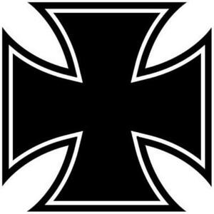 Iron-Cross-Aufkleber-2-Stueck-Eisernes-Kreuz-10X10cm