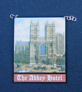 1-12-Scale-The-Abbey-Hotel-Pub-Sign-Tumdee-Dolls-House-Miniature-Bar-Accessory