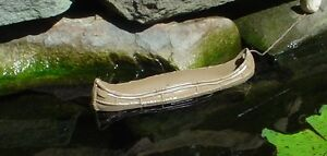 Floating Canoe Miniature Simple No Frills 1/24 Scale G Diorama Accessory Item