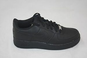 lower price with no sale tax first look NEW BIG KID'S NIKE AIR FORCE 1 ( GS) LOW 314192-009 BLACK/BLACK ...