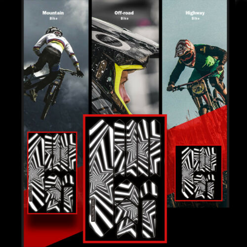 MTB Bicycle 3D Reflective Frame Sticker Protector Repeat Paste Scratch-Resistant