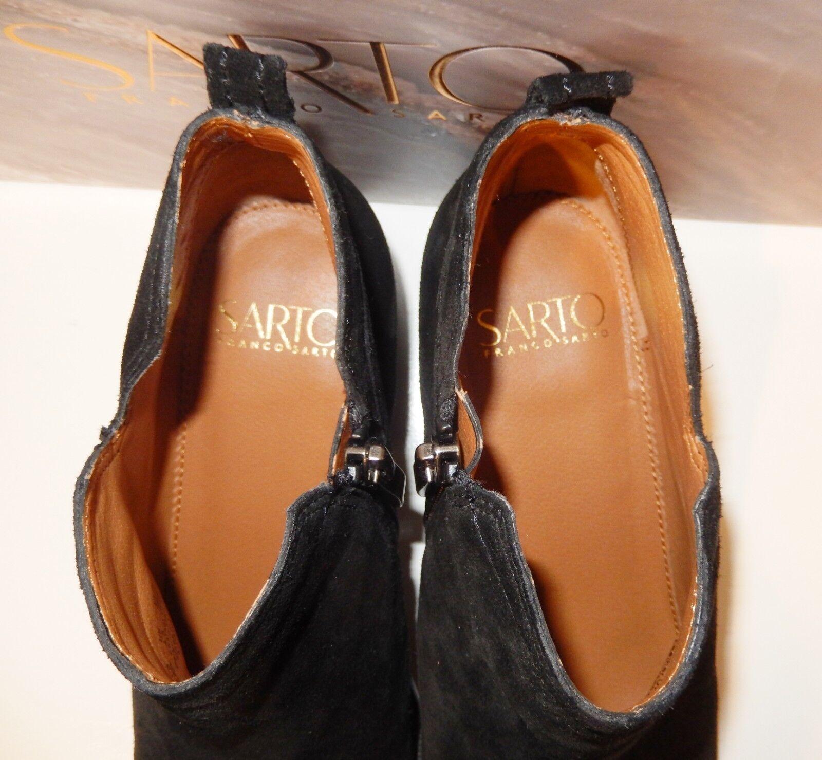 SARTO Franco Sarto  129 129 129 PAIVLEY Inner Side Zips Suede Booties Black Sz. 6 1 2 W 1a87f9