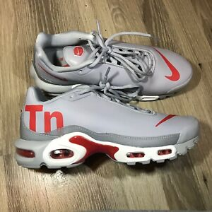 Details about Nike Air Max Plus TN Mercurial Wolf Grey Red Running Shoe Size 8.5 AQ1088 001