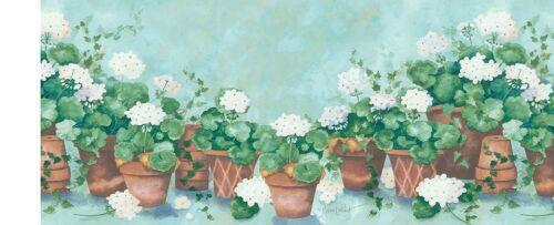 FDB06743 Terracotta floral wallpaper border