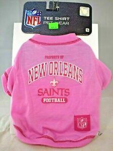 Licensed NFL - New Orleans Saints Team Shirt - Pink (Pet, Dog) Medium (M)