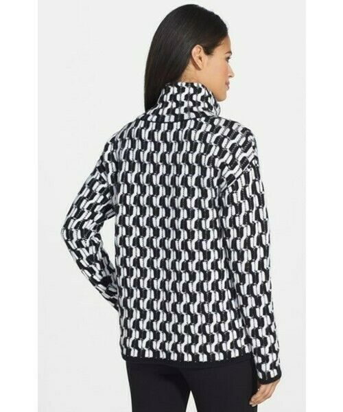 100% Cashmere NORDSTROM COLLECTION Black White Do… - image 4