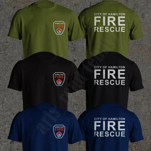 Fire Fighter Rescue Courage Honor Canadian T-Shirt Firefighter Maltese Cross