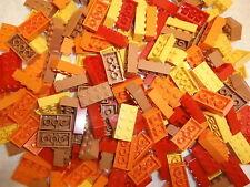 LEGO  180  Bausteine 2x4 Noppen 3001  in hellbraun, rot, orange und gelb NEUWARE