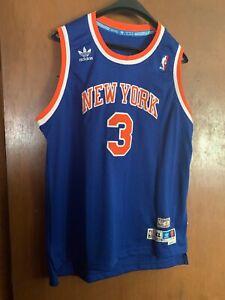 Details about New York Knicks NBA John Starks Adidas Hardwood Classics Jersey Kids 18 20 2L