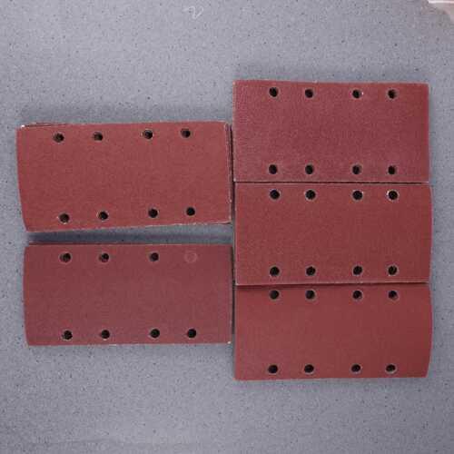 50x Schleifpapier für Schwingschleifer Klett 8-Löcher Körnung 120 185mmx95mm DHL