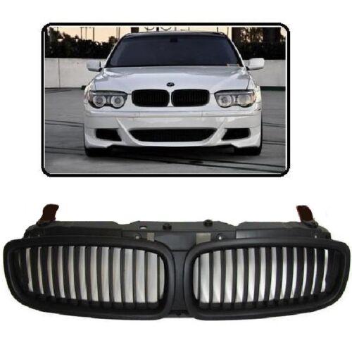 CALANDRE AVANT NOIR MAT POUR BMW SERIE 7 E65 E66 PHASE 1 DE 09//2001 A 02//2005