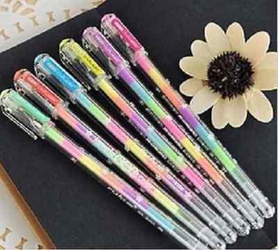 6pc/Lot 6 Reverie Colorful Chalk Watercolor Pen Gel Pen Marker Glitter Pen-0.8mm