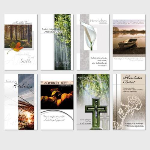 50 Trauerkarten Trauerkarte Trauer Beileidskarten Kondolenzkarten sk 3439