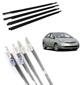 5 PCS Toyota 4Runner 03-09 Front /& Rears Door Belt Molding Weatherstrip Kit