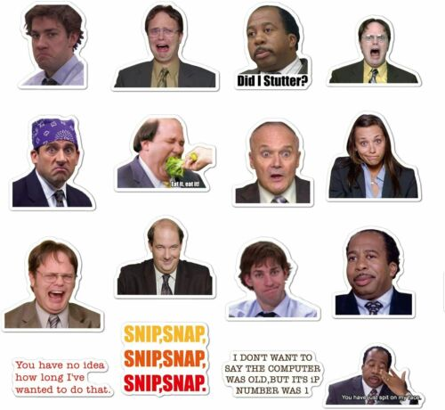 50PCS The Office Themed Stickers Funny Quote Laptops Water Bottles Guitar Sticke
