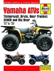 Details about HAYNES SERVICE MANUAL YAMAHA 350ER 87-95 BIG BEAR YFM on