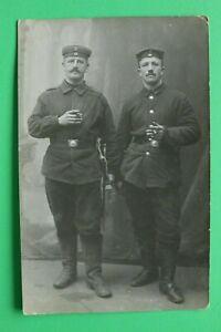 Foto-AK-Soldaten-Schulterklappe-Nr-87-Bajonett-1-Nassauisches-Inf-Reg-1914-18