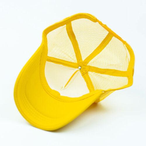 Unisex Trucker Mesh Hat Snapback Summer Blank Baseball Cap Hip-Hop Adjustable