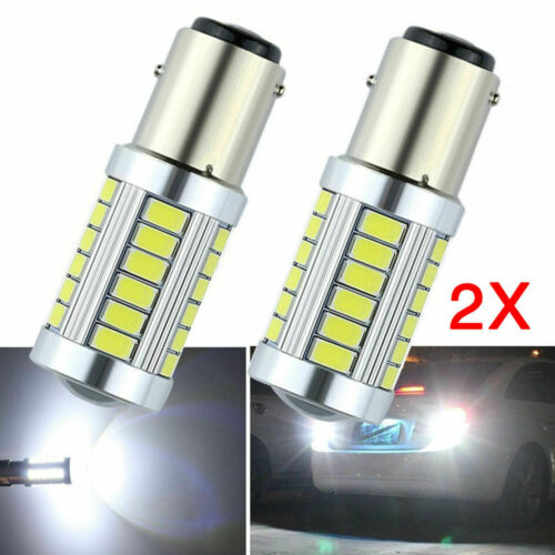 2x BAY15D 1157 White Car Tail Stop Brake Light Super Bright 33SMD LED Bulb 12V W