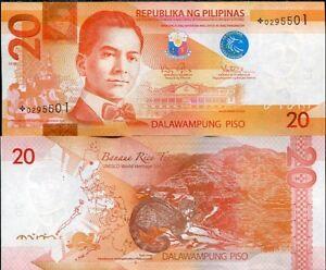 PHILIPPINES 20 PISO PESO 2010 P 206 REPLACEMENT UNC